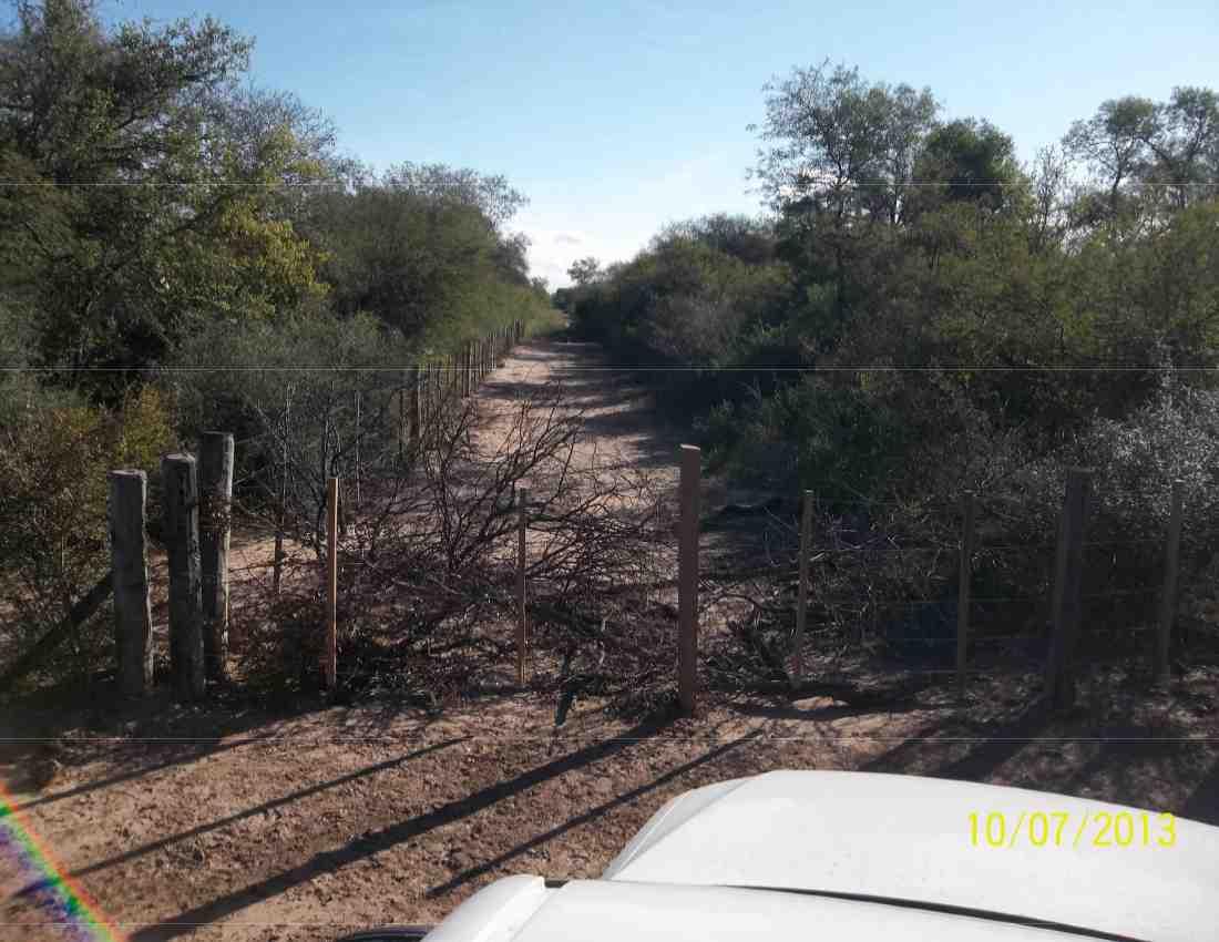 camino cerrado por terrateniente