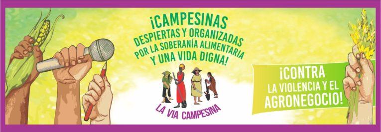 #8Marzo2020: ¡Campesinas despiertas y organizadas por la Soberanía Alimentaria y una vida digna!