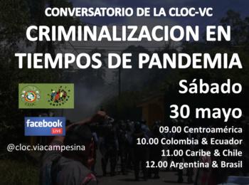 Conversatorio: Criminalización en tiempos de pandemia