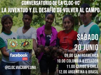 """Conversatorio de la CLOC-VC """"La juventud y el desafío de volver al campo"""""""